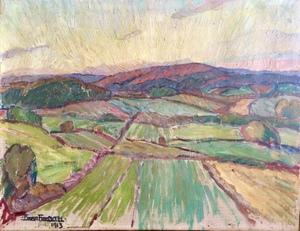 Einar FORSETH - Painting - Landscape, 1913