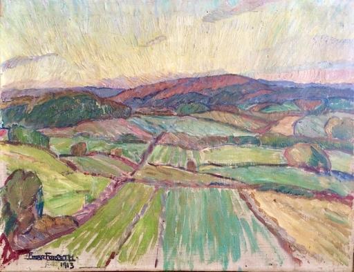 Einar FORSETH - Peinture - Landscape, 1913