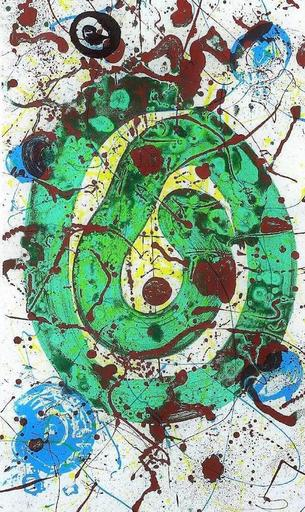 Sam FRANCIS - Grabado - For the Blue Sons of the Air