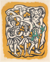 """Fernand LÉGER (1881-1955) - """"Les Danseuses (Fond Jaune)"""""""