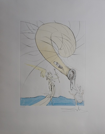 Salvador DALI - Druckgrafik-Multiple - After 50 Years of Surrealism Freud Head of Snails