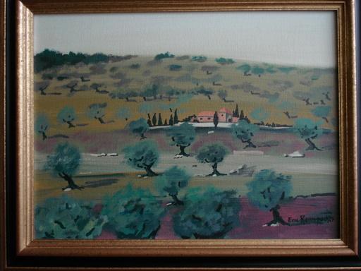 Eric RAMSPACHER - Painting - Mas provencal