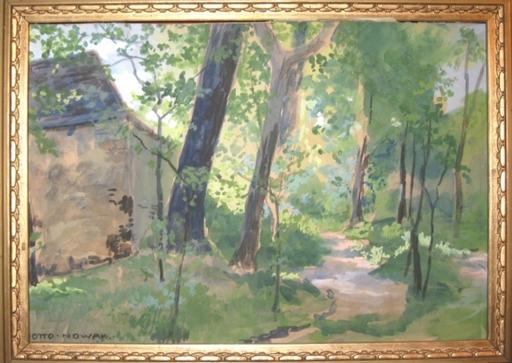 Otto Robert NOWAK - Dibujo Acuarela - Wald bei Ober St. Veit