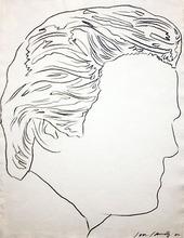 Andy WARHOL - Disegno Acquarello - UNTITLED ( JON GOULD)