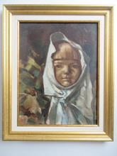 Carlos ABASCAL - Painting - Portait d'enfant marocain
