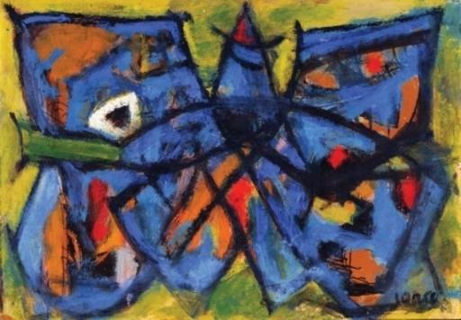 Marcel JANCO - Pittura - Butterfly