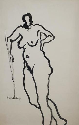 Joseph DELANEY - Dibujo Acuarela - Untitled (Nude)