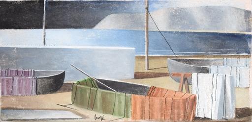 Marcello SCUFFI - Pintura - Il mare d'inverno