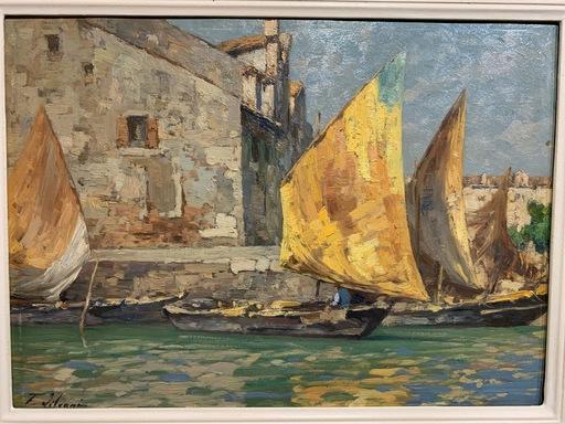 Giovanni SALVIATI - Pittura - Il rio Pallata in Giudecca