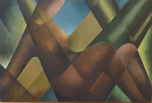 Rudolf JAHNS - 绘画 - Sitzender Akt