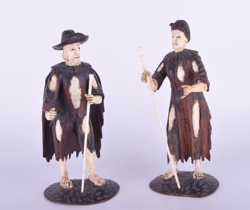 Simon TROGER - Sculpture-Volume - Figures of Peasants