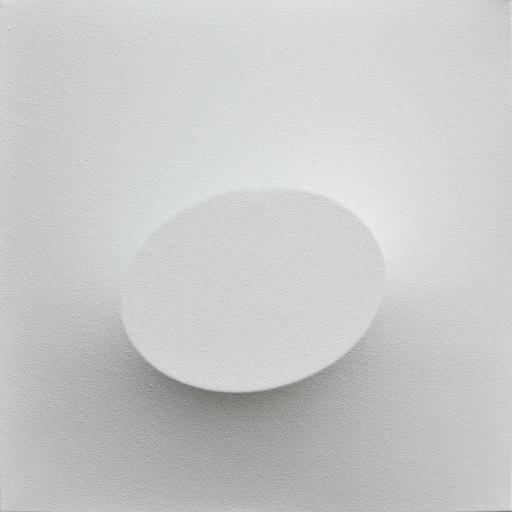 Turi SIMETI - Painting - Un ovale bianco