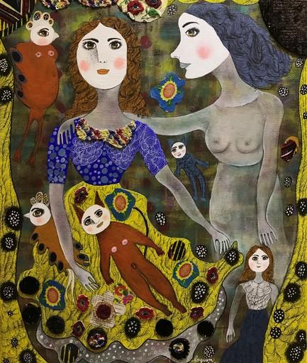 Claudine Marie Claire LOQUEN - Gemälde - Le Chat