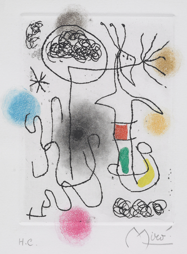 Joan MIRO - Estampe-Multiple - Midi le trefle blanc
