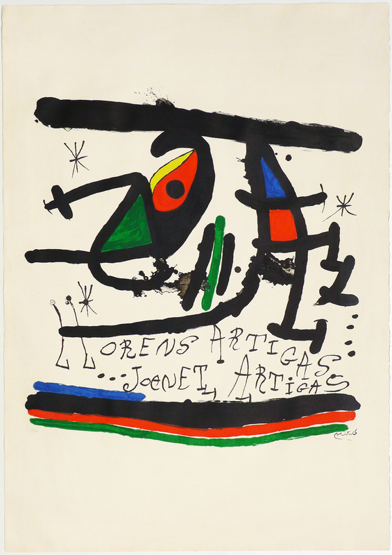 Joan MIRO - Druckgrafik-Multiple - A.L Exposición 1971 Llorens Artigas, Joanet Artigas