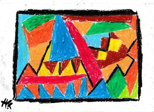 Harry BARTLETT FENNEY - Drawing-Watercolor - steeple