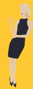 Alex KATZ - Grabado - Black Dress (Ruth)