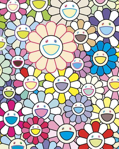 Takashi MURAKAMI - Grabado - Field of Flowers