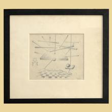 René PORTOCARRERO - Dibujo Acuarela - Drawing