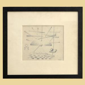 René PORTOCARRERO - Dessin-Aquarelle - Drawing
