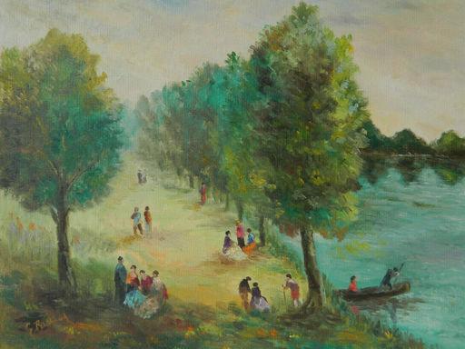 Georges RICHAUD - Painting - PAYSAGE - LANDSCAPE