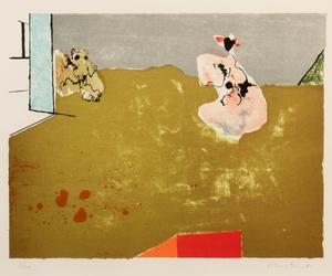 CONSTANT - Estampe-Multiple - Vrouw en hond, 1965