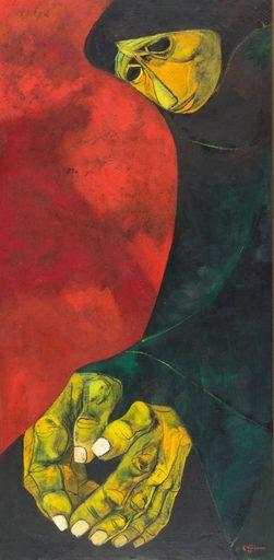 Eduardo KINGMAN RIOFRIO - Gemälde - Mujer
