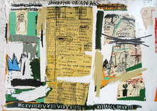 Jean-Michel BASQUIAT - Grabado - Jawbone of an ass
