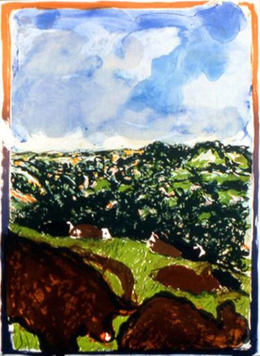 Malcolm MORLEY - Grabado - Devonshire Bullocks