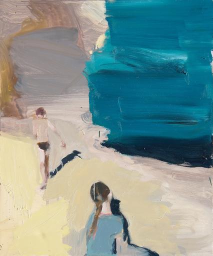 Vladimir SEMENSKIY - 绘画 -   Girl Sits Opposite a Boy Who Goes Along the Sea