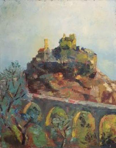Alexandre BERLANT - Pintura - Paysage d'eze