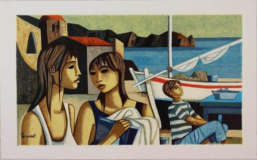 Lucio RANUCCI - Estampe-Multiple - I figli del pescatore