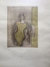 Jean METZINGER - Print-Multiple - FEMME A L EVENTAIL