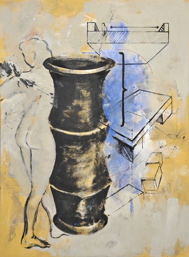 Robert KABAS - Painting - Vase