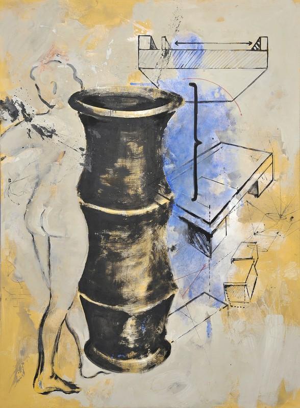 Robert KABAS - 绘画 - Vase