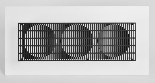 Antonio ASIS - Escultura - 3 Cercles noir et blanc