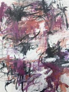 Joan MITCHELL - Disegno Acquarello - composition