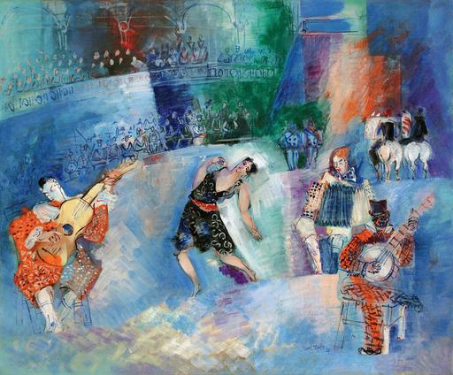 Jean DUFY - Pintura - Le cirque