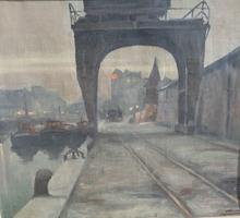 Piet VOLCKAERT - Peinture - Au port