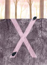 Rocío DEL MORAL - Grabado - Animal Alphabet - The letter X    (Cat N° 6197)