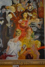 Theresa Ferber BERNSTEIN - Painting - People at the race track