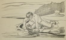 爱德华•蒙克 - 版画 - Omega's Death