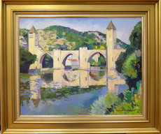 Franck INNOCENT - Painting - Le pont de Valentré