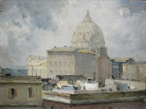 Maceo CASADEI - Peinture - San Pietro tempo grigio, Roma