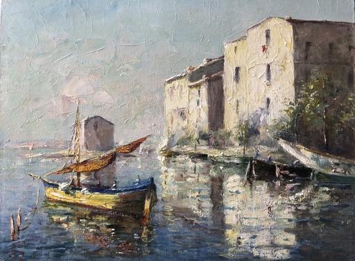 Georges L. GYANINY - Painting - Le quai Marceau aux Martigues