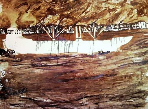 Noel MORERA CRUZ - Pittura - Entrada al Puerto (Port II Serie)