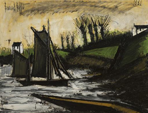 Bernard BUFFET - Gemälde - Bateaux de pêche