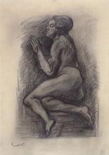 Emile Othon FRIESZ - Drawing-Watercolor - Miarka, the Mulatto