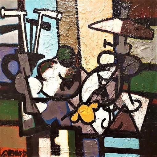 Claude VENARD - Pittura - Composition à la Lampe