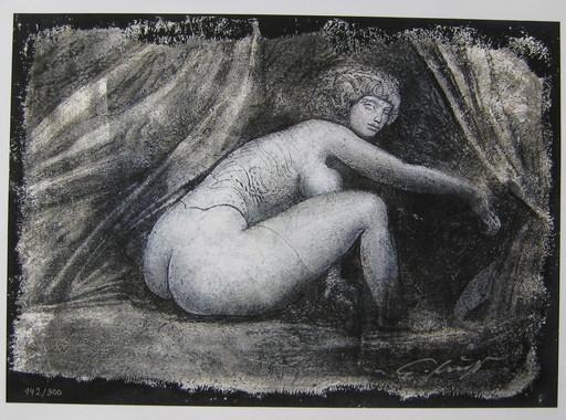 Ernst FUCHS - Print-Multiple - SERIGRAPHIE NU SIGNÉE À L'ENCRE NUM300 HANDSIGNED SILKSCREEN